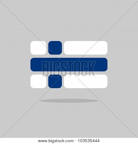 Flag Of Finland. Stylized Finnish Flag Of Geometrical Elements. Vector Illustration