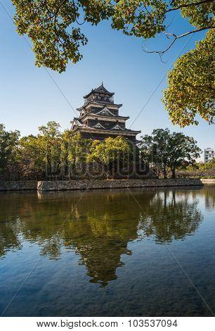 Hiroshima Castle In Hiroshima, Japan