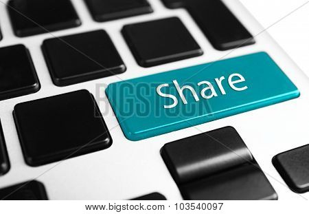 Close up of Share keyboard button