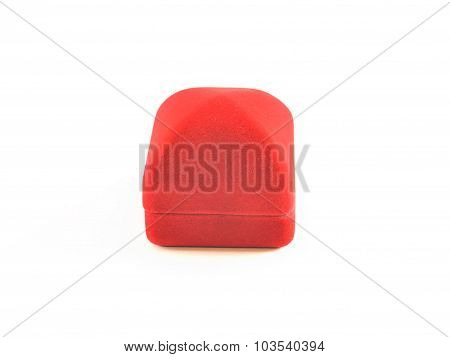 Isolated Image. A Closed Graceful Little Square Box For Jewelry