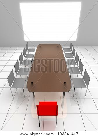 3D Interior. Chairs And Table