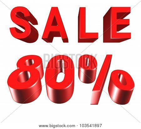 Sale - Price Reduction Of 80 Percent