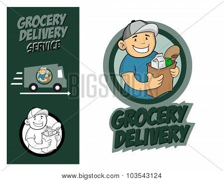 Grocery Delivery Service Concept.