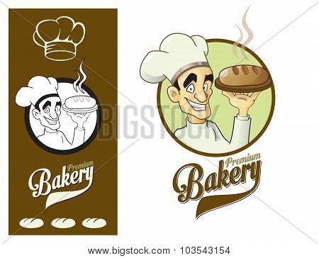 Logo Design Element Baker