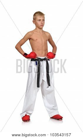 Boy In Red Gloves