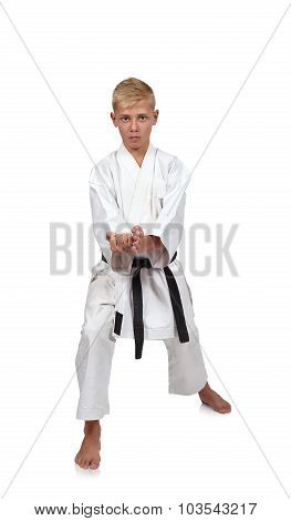 Boy In Karate Suit