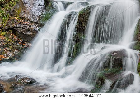 Waterfall With White Jets