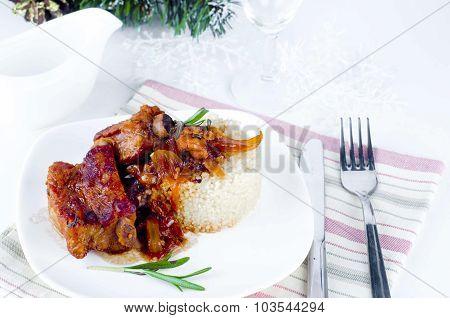 Roast Pork With  Spices