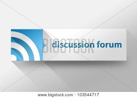 3D Discussion Forum Flat Design, Illustration