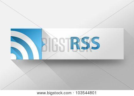 3D Internet Rss Flat Design, Illustration