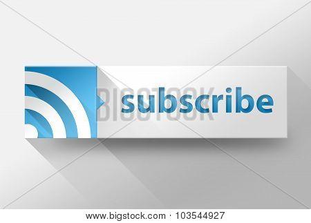 3D Subscribe Blog Or Website Flat Design, Illustration