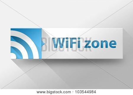 3D Wifi Internet Zone Flat Design, Illustration