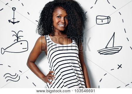 Pretty Sailor Black Woman