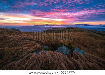 Colorful Sunrise Along The Appalachian Trail