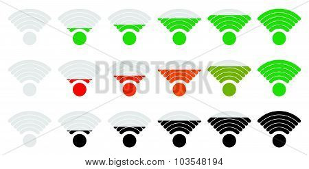 Signal Strength Indicator Set With Adjustable Opacity Mask.