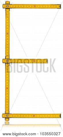 Font E - Old Yellow Meter Ruler