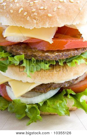 Close Up Hamburger