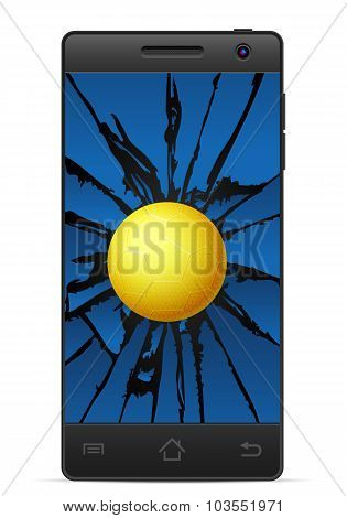 Cracked Smart Phone Handball