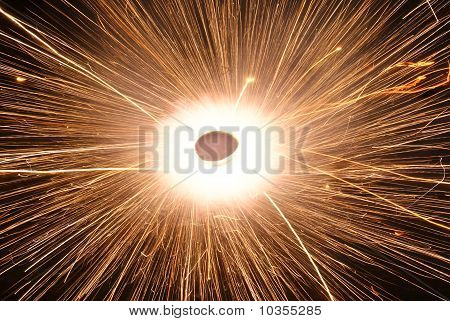 Sparkling firework during Diwali