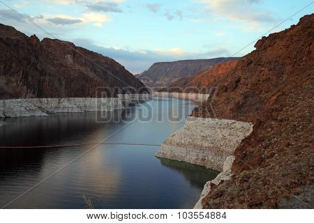 Lake In Canyon At Hoover Dam, Nevada, Usa