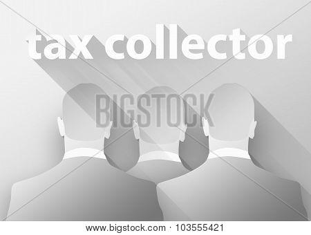 Tax Collector Concept 3D Illustration Flat Design