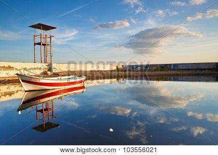 Boat in Palio Faliro in Athens.