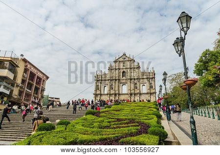 Ruins of st.paul's in macau china