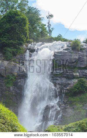 Wachirathan Waterfall At Doi Inthanon Nation Park In Chiangmai Thailand