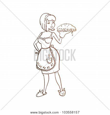 Housewife Vector Sketch