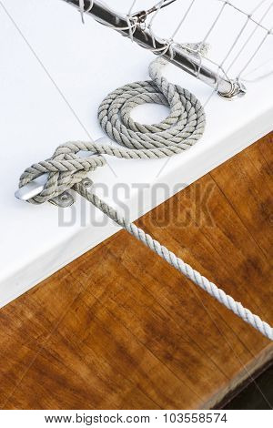 Tightrope On A Wood Yacht