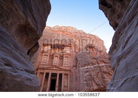 Imposing Monastery In Petra, Jordan