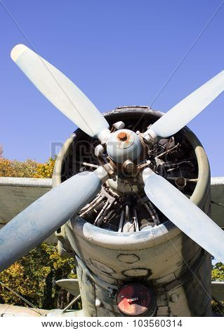 An Airplane Propeller.