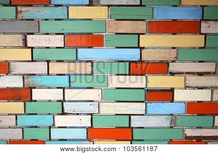 Close up mixed color wall background