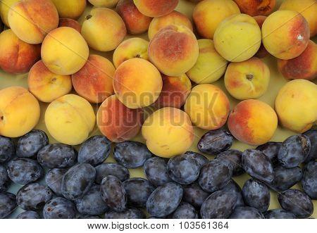 Peach and plum