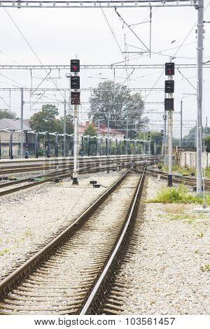 Railways In A Train Station