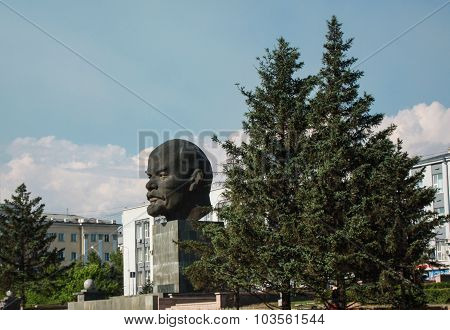 Monument To Vladimir Lenin In Ulan-ude