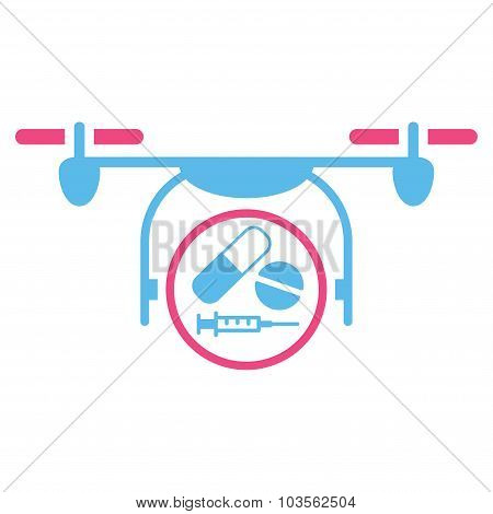 Medication Quadcopter Icon