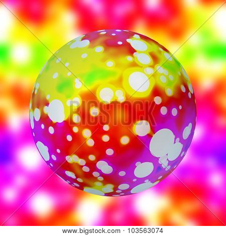 Neon Infra Sphere On Blurred - Seamless Pattern Texture