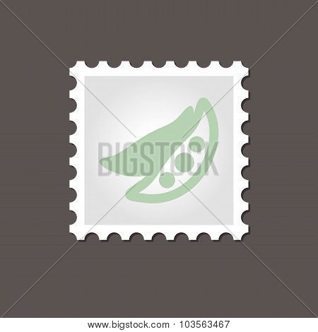 Pea stamp. Outline vector illustration