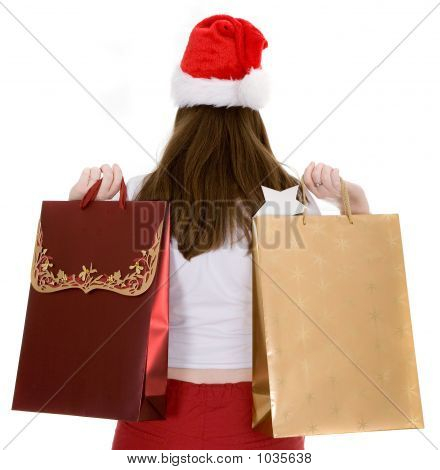 Santa With Shopping Bags