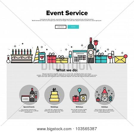 Event Service Flat Line Web Graphics