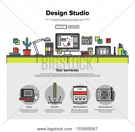 Design Studio Flat Line Web Graphics
