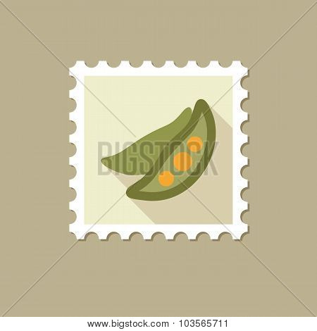 Pea flat stamp with long shadow