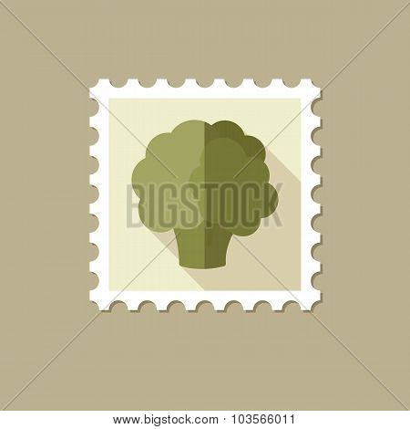 Cauliflower flat stamp with long shadow