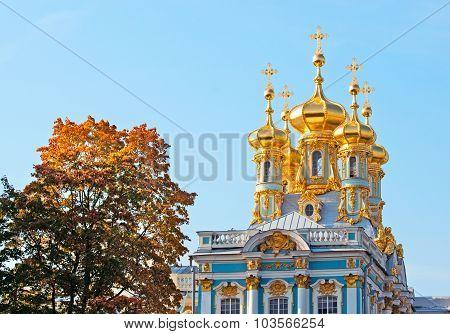 Tsarskoye Selo (Pushkin). Saint-Petersburg. Russia. The Church of the Resurrection