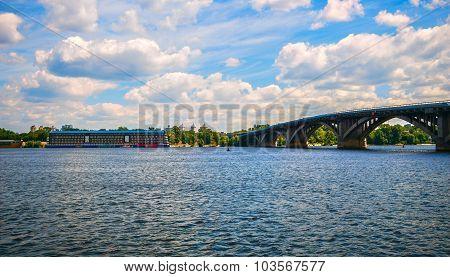 panorama of the Bridge-metro in Kiev