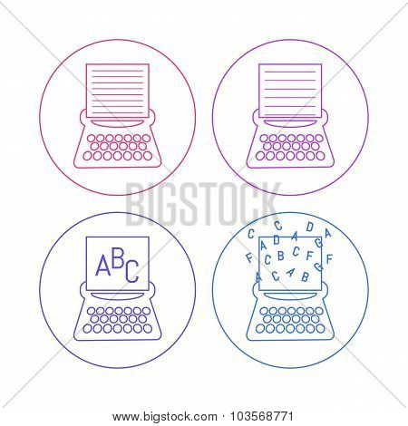 typewriter icons