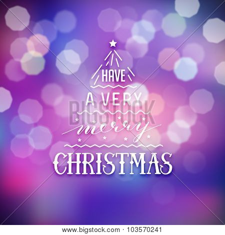 Christmas illustration on blurred background