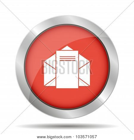Envelope Mail Symbol. Flat Design Style.