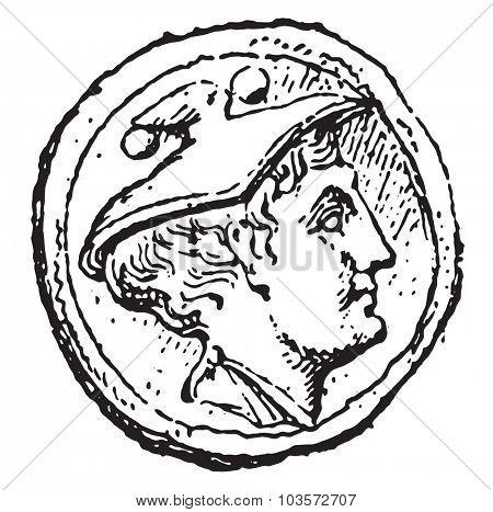 Mercury, vintage engraved illustration.